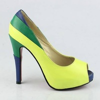 new arrive 2013  fashion high heel shoes, ladies fish mounth  genuine leather wedding  shoes  3 color supplier