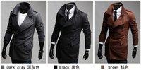 New Arrival Bouble-breasted golilla Jacket Men's Shitsuke Coat Fashion Coat 201208008