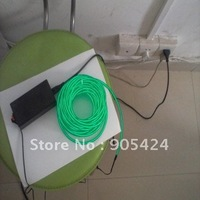 flashing neon  green el wire 5mm diameter 10m with driver inverter
