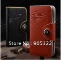 100% Original TScase Wallet Cow Leather Flip Case Cover for Samsung i9300 Galaxy S 3 III with Free Shipping