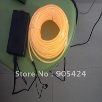 flashing neon orange el wire 5mm diameter 10m with driver inverter