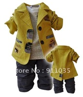 free shipping !Male infant children's clothing baby 1-5 years old new han edition small suit cotton three suit