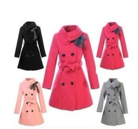 Hot sell 2012 New Slim Double Breasted Coat Wool Jacket Winter Outwear free shipping