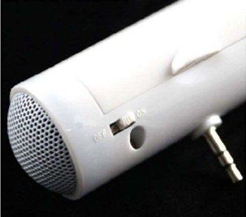 LOW! 3.5 mm Barrel-Style Mini Portable Stereo Speaker for mobile Phone MP3 speakers , Mini Speaker For iPod player Free shipping