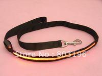 10PCS/Lot Free shipping 120cm Black Band LED Light Up Dog leads Flashing Dog leads 8 colors for choice