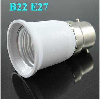 Freeshipping 20PCS LED Halogen CFL Light Lamp Adapter B22 to E27 Bayonet Socket to Edison Fitting Globe