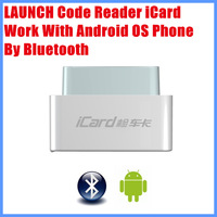 New Arrival 100% original Launch  code reader iCard  Work With Android OS By Bluetooth Multi-language update via internet