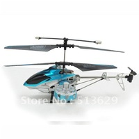 24sets/lot  hot  rc helicopter gyro type 4ch 2.4GHz remote control metral frame double propeller RTF USB charge