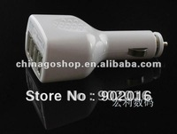 Free shipping 10pcs 2.1A output 4usb car charger for ipad/iphone