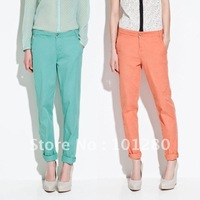 Free shipping  new arrival 2013 ladies candy color casual plus size pants five color six size for choice