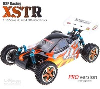 free shipping 2pcs/lot  HSP 94107PRO RTR 1/10 XSTR Off-Road Electricity Buggy 4WD brushless ESC/Motor RC Car