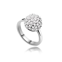 Crystal Ball Rings Fashion Jewelry Rings for Women