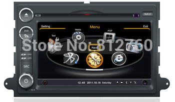 Car DVD GPS Navigation for Ford Fusion /Explorer/Expedition/F150/EDGE with BT iPOD TV V-CDC Radio RDS