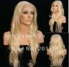 "26"" Long LACE FRONT Wig Wigs Curly Wavy #613 Blond Hair free shipping"