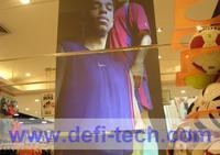 9m * 1.5m Dark grey Rear projector film for trade show, Digital signage, glasses window, station