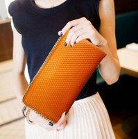 Free Shipping Wholesale 2012 fashion leather handbag hot  sales Korean alligator grain handbags women's wallet  many colors