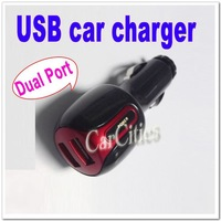 Dual port USB car charger,Mini Travel Kits,universal car charger Adaptor for USB powered  devices etc. 15$ Off per 150$ Order