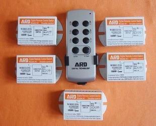 New ! ARD Wireless remote control switch,digital remote control switch, 1x 5 receiver(China (Mainland))