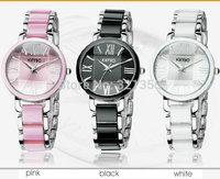 Brand Eyki Kimio Watch Women Ladies Ceramic Luxury Bracelet Watches Stainless Steel Quartz Dress Watches
