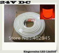 10m per roll LED Neon Flex 24V DC Orange LED soft neon light led neon rope light 80pcs/m DHL express