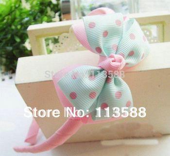 30pcs/lot ribbon hair headband Christmas Gifts Infant Baby Headbands Bowknot Headbands Baby Girls Hair Accessories HA0020