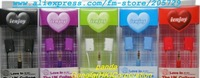 Free Shipping Retail packaging Kissing shape Ear headset fine fashion design for mobile phone  /MP3 /MP4(portable CD/VCD/DVD)PAD