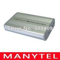 3.5 Inch USB 2.0 SATA External HDD HD Hard Drive Enclosure Case Black Color