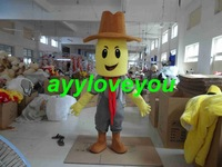 Free Shipping Adult Size corn man Cartoon Cosplay Mascot Costume Cosplay Christmas Hallowmas Party Dress
