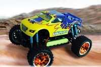 low shipping HSP Racing  94186 PRO KIDKING 1/16th Scale Electric Powered Off Road Monster Truck RTR