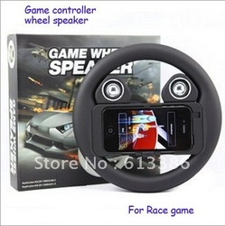 Car race game steering wheel with speaker for iphone 4/4s(China (Mainland))
