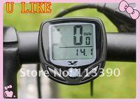 free shipment Bicycle Computer Odometer Function Black LCD Waterproof Wireless Multifunctional
