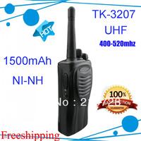 2pcs DHL Freeshipping TK-3207 TK3207 portable 2 Way Radio 5watts Walkie Talkies UHF 400-520MHZ