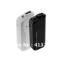 Free shipping Black /White Portable Battery Powered Travel Charger Emergency Charger  for iPhone mobile phone, iPod