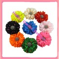 Hot sale !New 12pcss  Fluorescents ploka dots silk flower