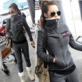 Free shipping 2012 new arrival NY fashion casual sports thickening suit / Sweatshirts women&#39;s hoodies sweatshirts set/ Plus size