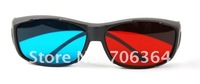 FOB price-- 3D VISION game 3D glasses RED/Blue lens plastic Framed 3 Dimensional glasses