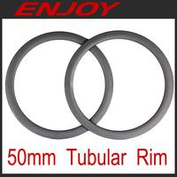 Full carbon road 50mm tubular rims, free shipping~!!!