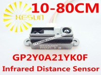 10PCS X 100% New SHARP 2Y0A21 10-80cm Infrared distance sensor with Wire (GP2Y0A21YK0F)