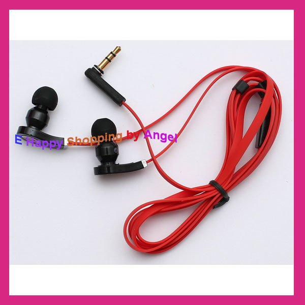 Cool In-Ear Stereo Earphone - Red + Black (3.5mm Jack/110cm-Cable) Earphones mp3 mp4 Headphone High quality Retailed box(China (Mainland))
