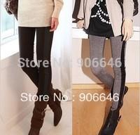 New fashion K116 spring-autumn women's leggings black slim match imitation leather stretch pants wholesale retail FREE SHIPPING