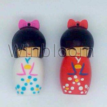 Nippon Doll USB Flash Drive 4GB 8GB 16GB 32GB Real Capacity FREE Shipping PVC USB Memory Stick