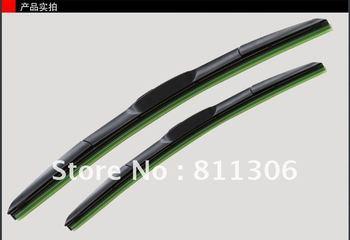 Free Shipping universal Car Wiper Blade,Natural Rubber Car Wiper,Car Accessory/AUTO SOFT WINDSHIELD WIPER 14-26Inch 2pcs/lot