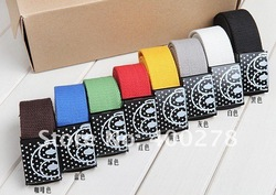 Special offer Wholesale&Retail Mens & Women Canvas Belt Colourfull Candy Color Lovers Belt Cheapest Price 1piece Free Ship C6(China (Mainland))