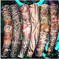 100 X Nylon Stretchy Fake Tattoo Sleeves Arm Stockings