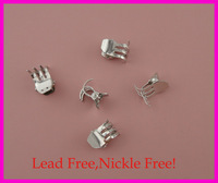 Bargain for Bulk unique 1.5cm plain metal hair claw at white color at lead free and nickle free quality