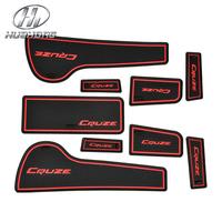 Car anti slip mat sticker gate slot pad door carpets Interior decoration accessory,suitable for Chevrolet CRUZE sedan hatchback