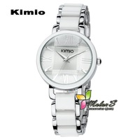 1pc Kimio watch 2012 ,Korean Fashion KIMIO Stainless Steel New Ceramics Wrist Watch ,FREE SHIPPING