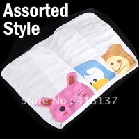 Free Shipping Lovely Cartoon Style Baby Sweat Absorbent Towel with 2pcs-Wholesale, Retail and Drop shipping-205120