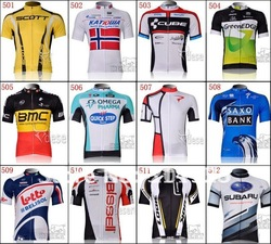 2012 new arrive short sleeve cycling jersey apparel bicycle wear sportswear many teams(China (Mainland))
