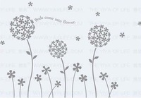 Free shipping NEW 2 pieces a lot,paster/room sticker/house wall decorative sticker/poster,Dandelion of Memory 8836